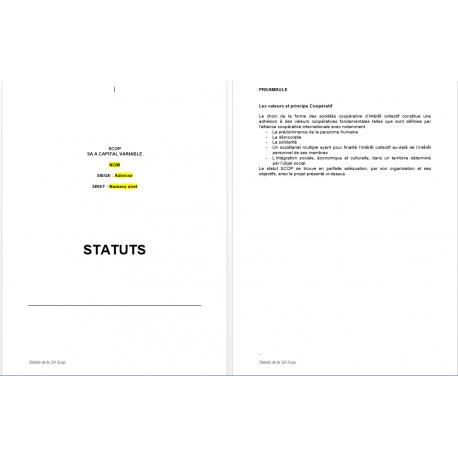 Statut SA SCOP (word)