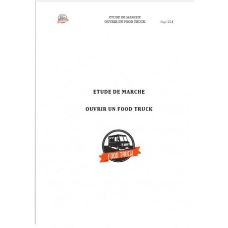 """Etude de marché """"Ouvrir un Food Truck"""" (Word)"""